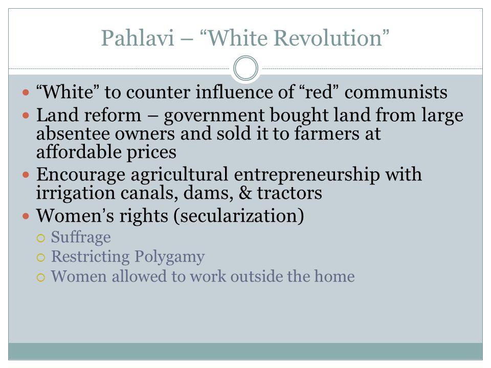 Pahlavi – White Revolution