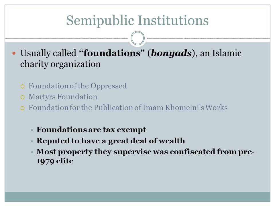 Semipublic Institutions