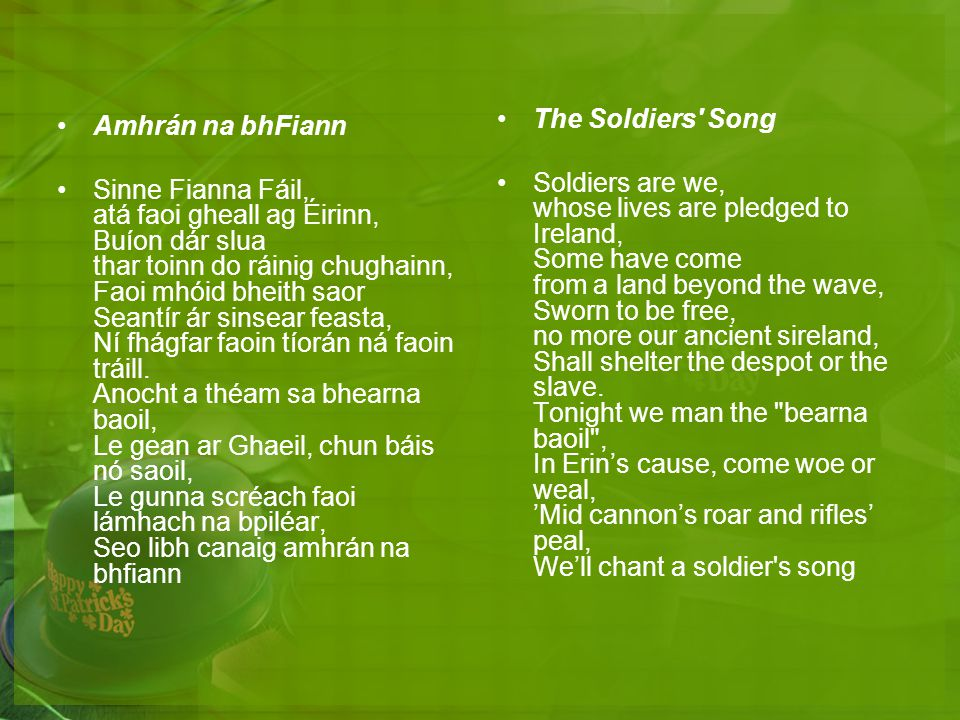 The Soldiers Song