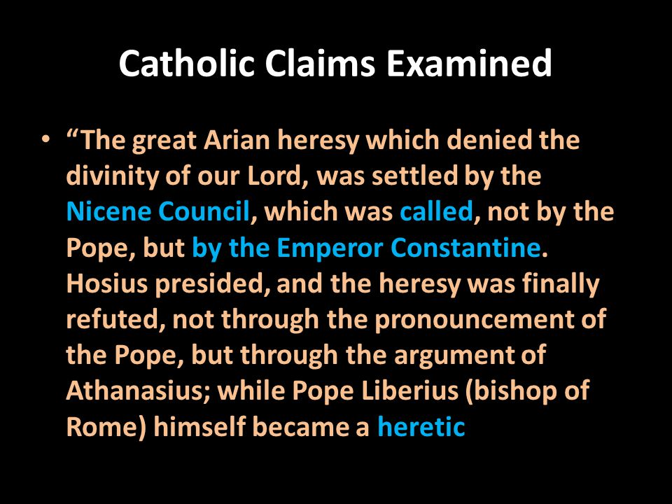 Catholic Claims Examined