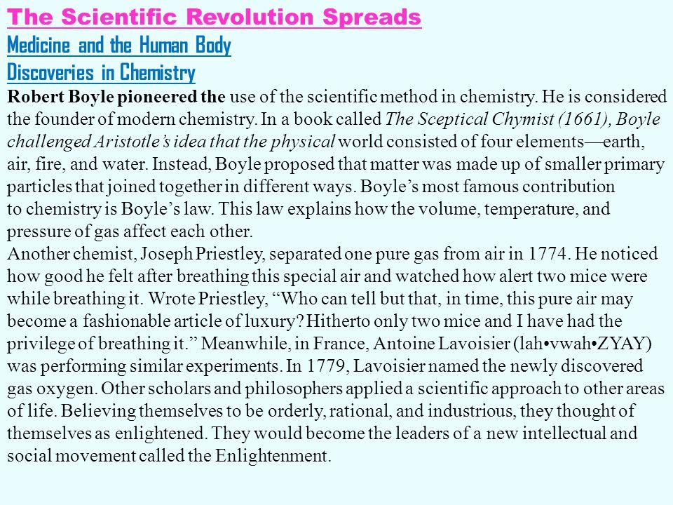 The Scientific Revolution Spreads Medicine and the Human Body