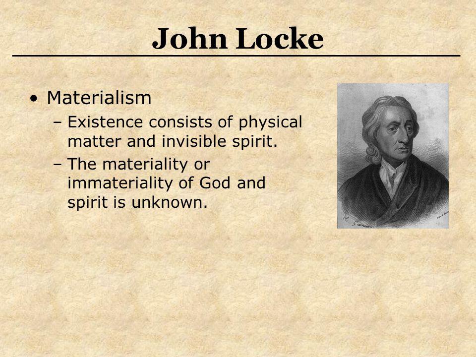 John Locke Materialism
