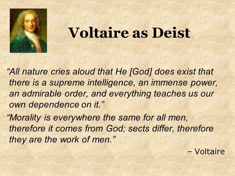 Voltaire as Deist
