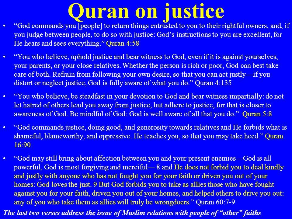 Quran on justice