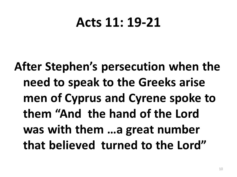Acts 11: 19-21