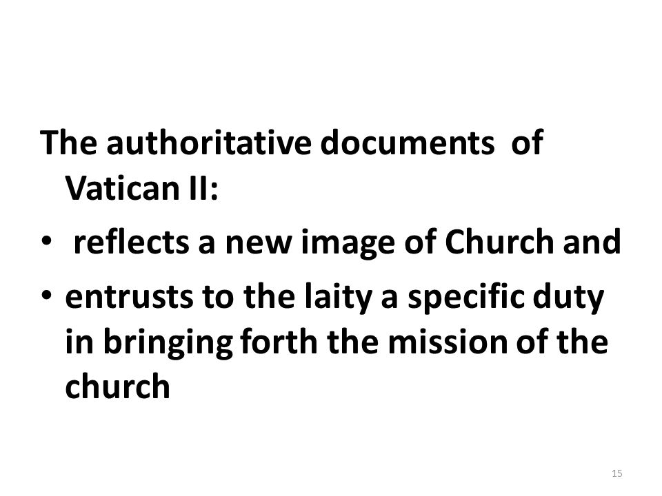 The authoritative documents of Vatican II: