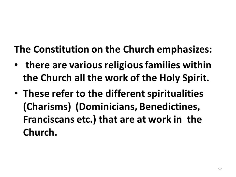 The Constitution on the Church emphasizes: