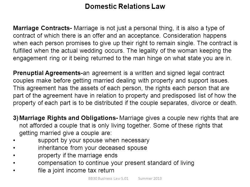 Domestic Relations Law