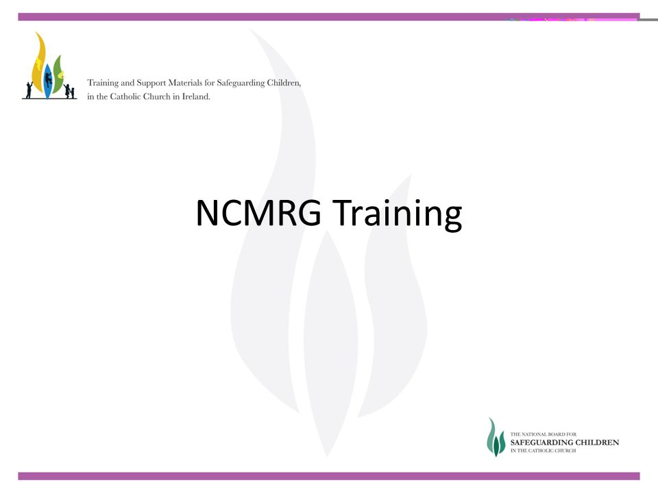 NCMRG Training