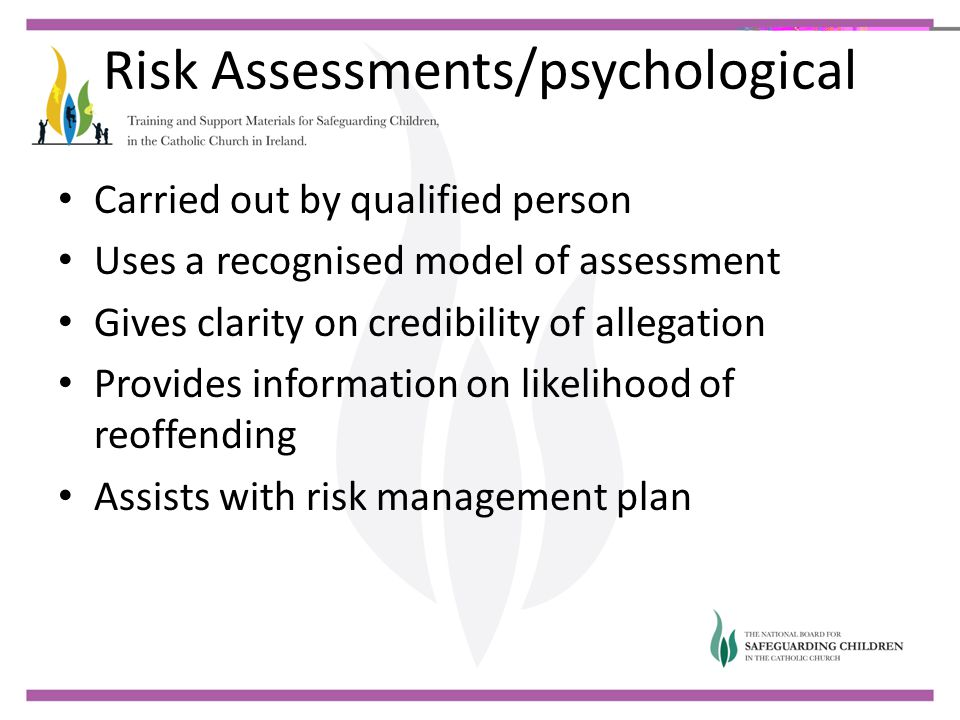 Risk Assessments/psychological