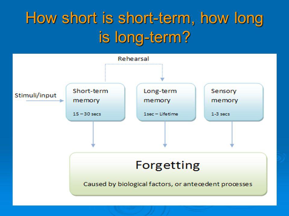 How short is short-term, how long is long-term