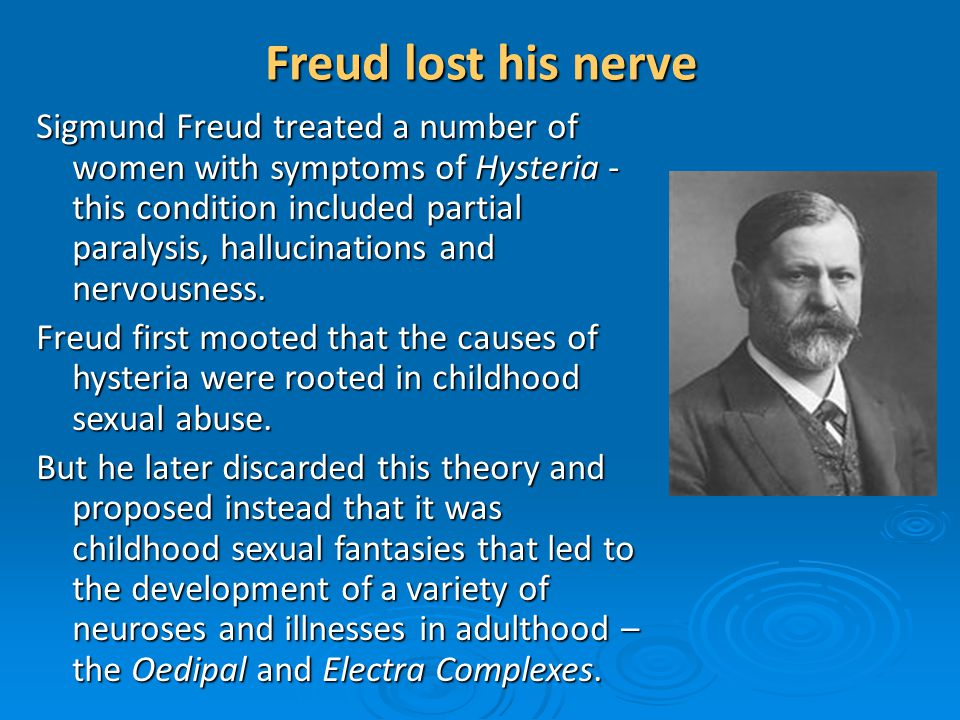 Freud lost his nerve