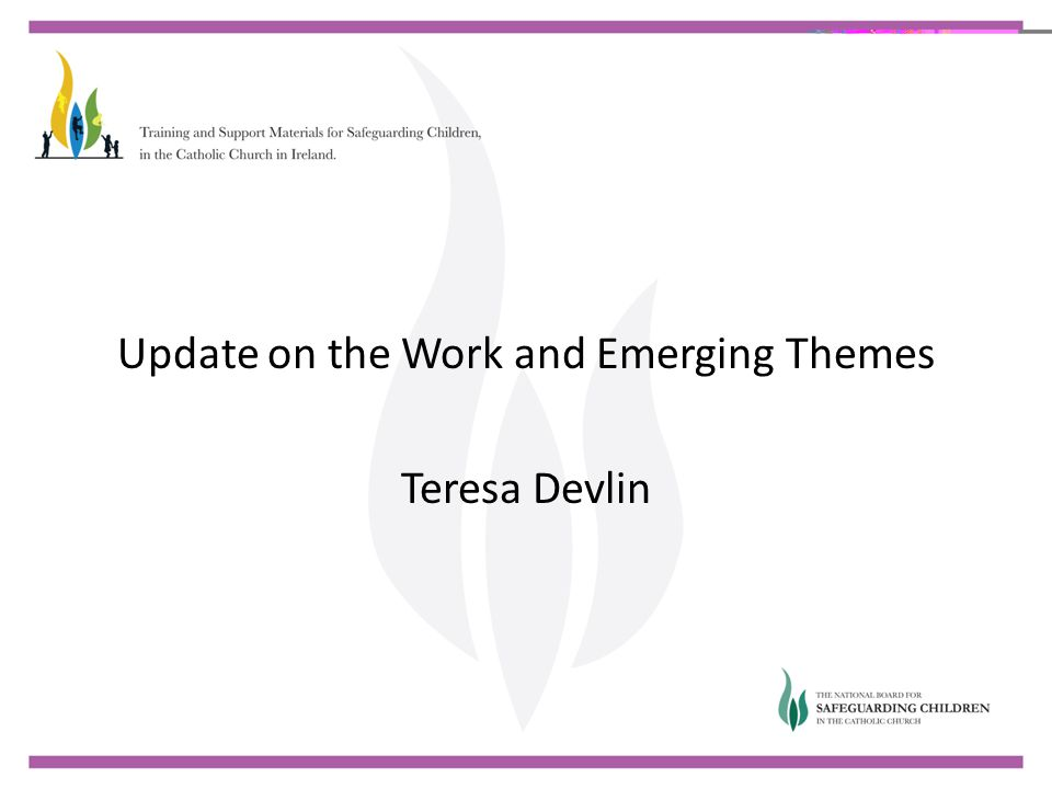 Update on the Work and Emerging Themes