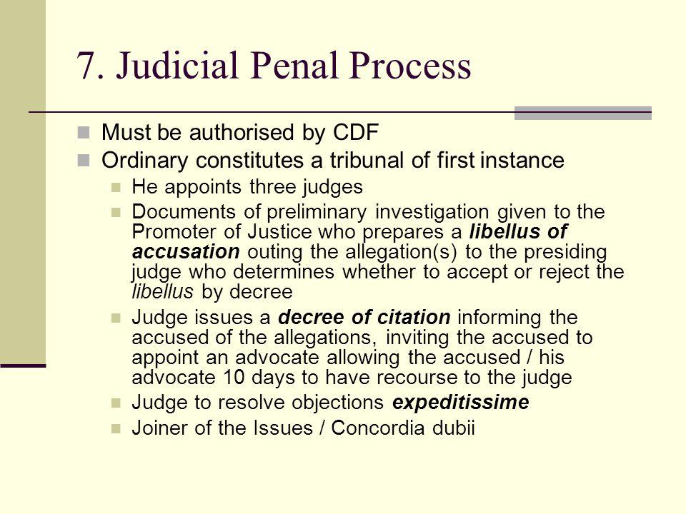 7. Judicial Penal Process