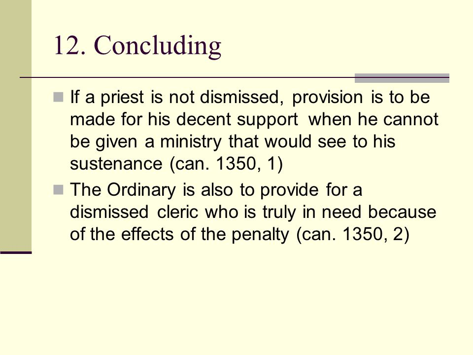 12. Concluding