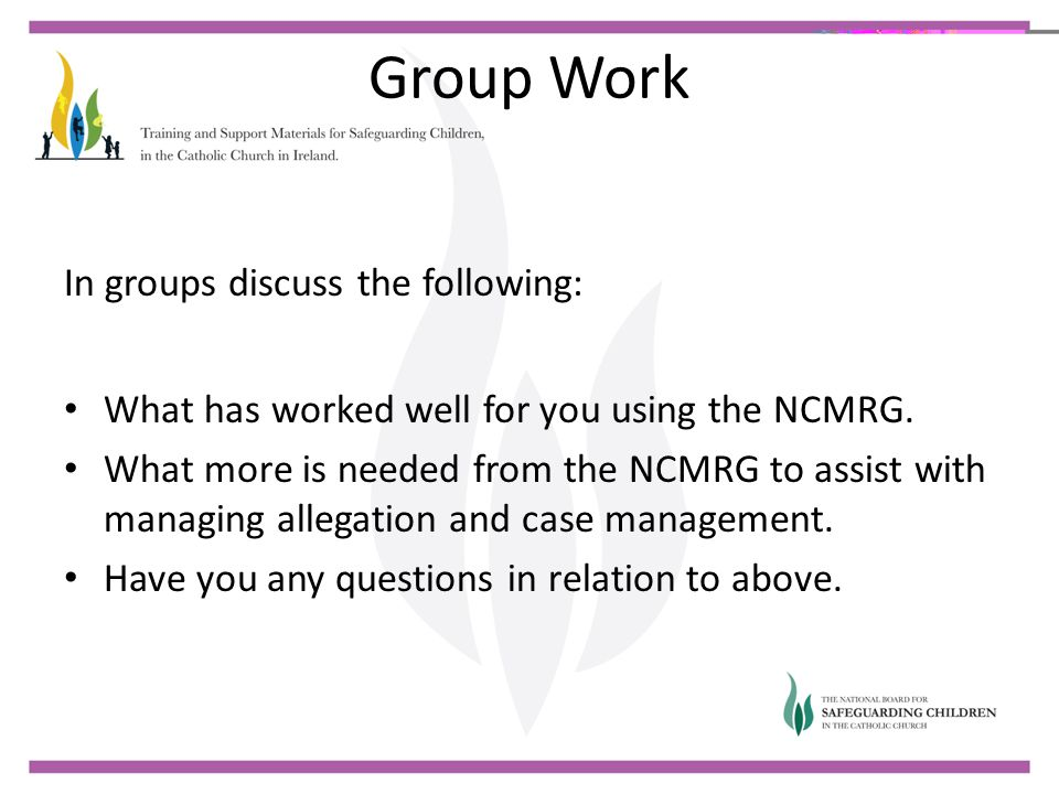 Group Work In groups discuss the following: