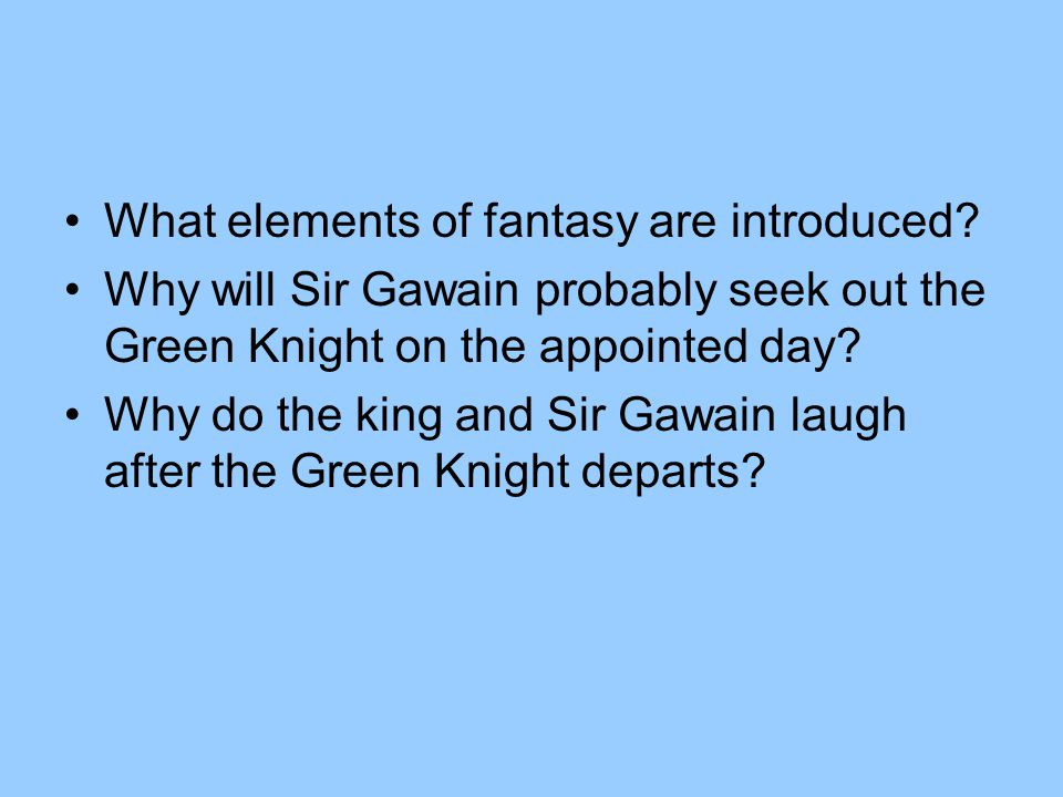 What elements of fantasy are introduced