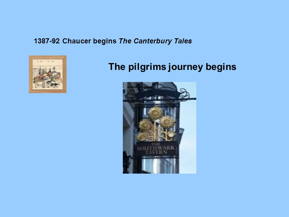The pilgrims journey begins