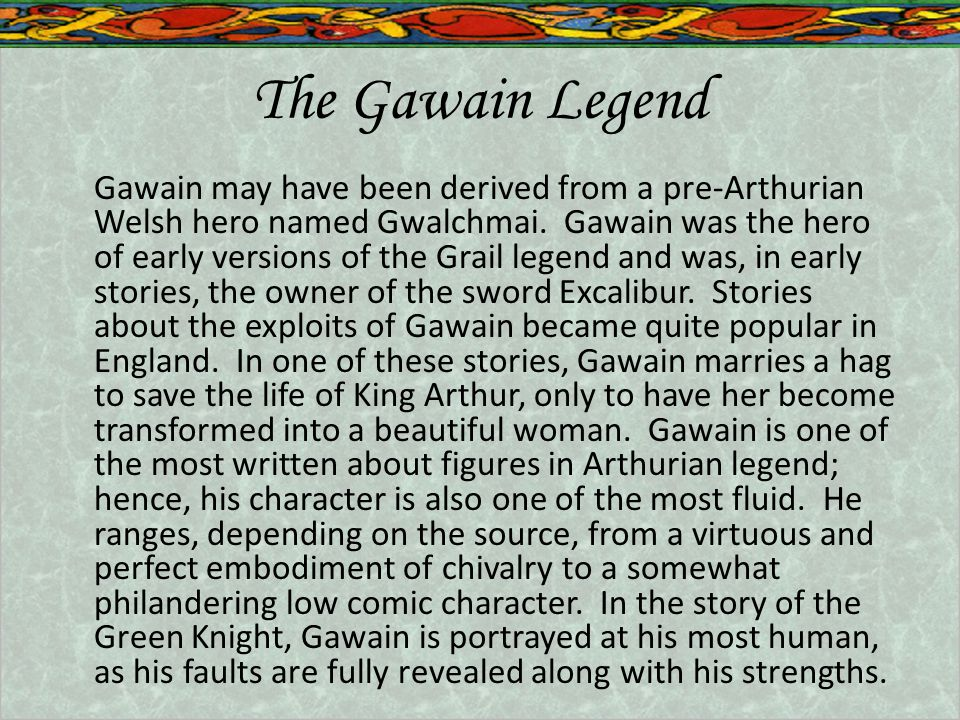 The Gawain Legend