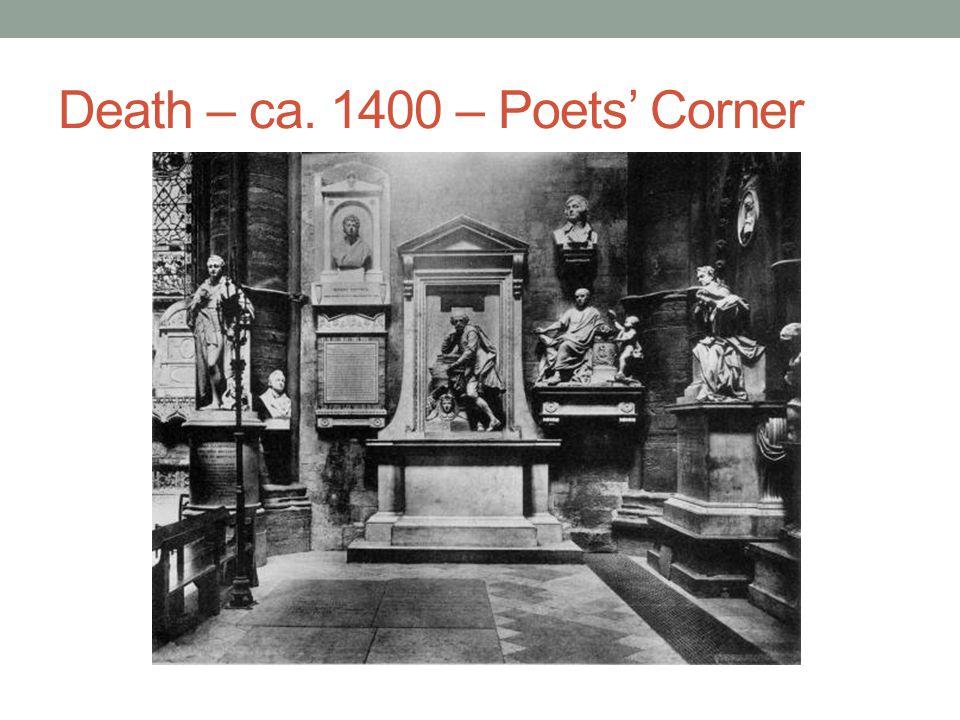 Death – ca. 1400 – Poets' Corner