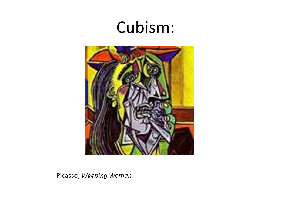 Cubism: Picasso, Weeping Woman