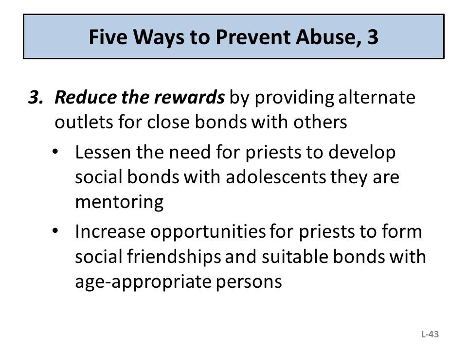 Five Ways to Prevent Abuse, 3
