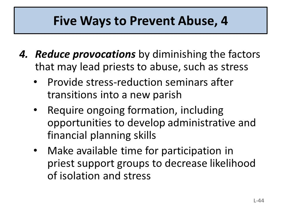 Five Ways to Prevent Abuse, 4