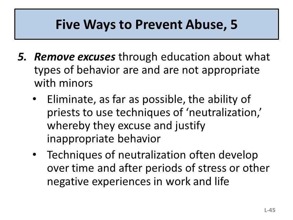 Five Ways to Prevent Abuse, 5