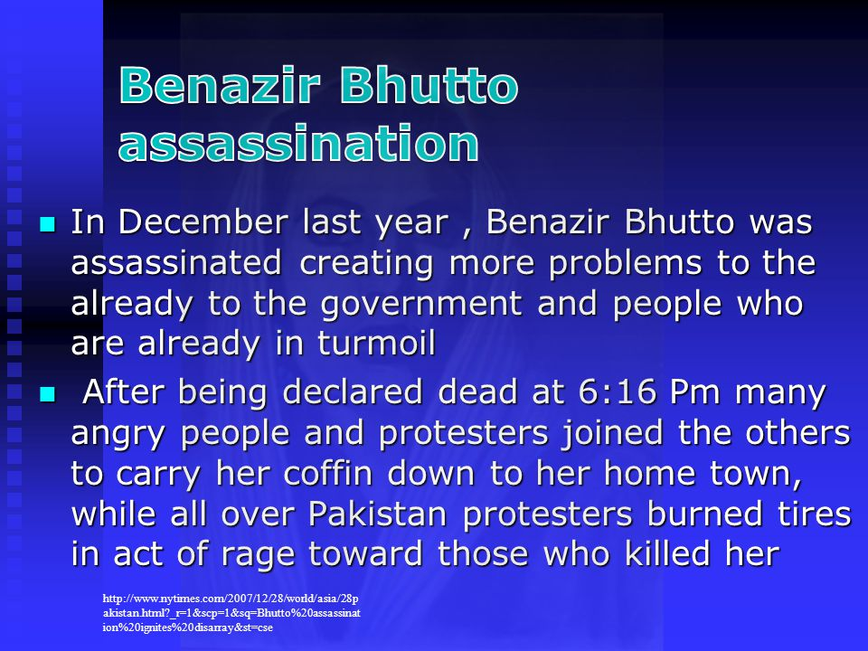 Benazir Bhutto assassination