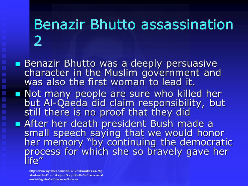 Benazir Bhutto assassination 2
