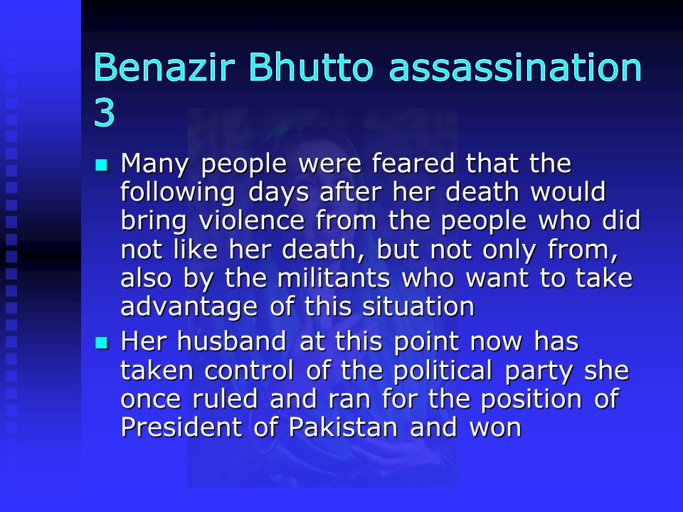 Benazir Bhutto assassination 3