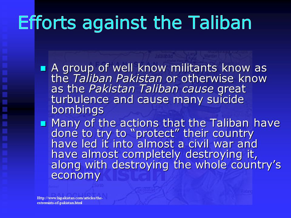Efforts against the Taliban
