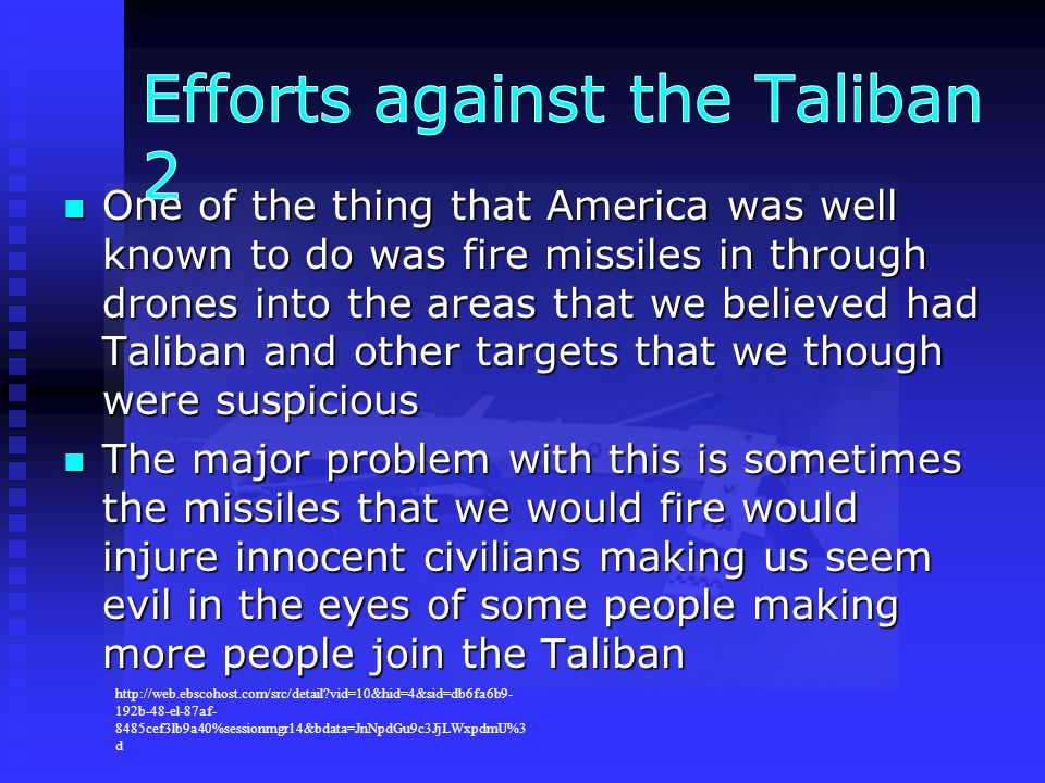 Efforts against the Taliban 2
