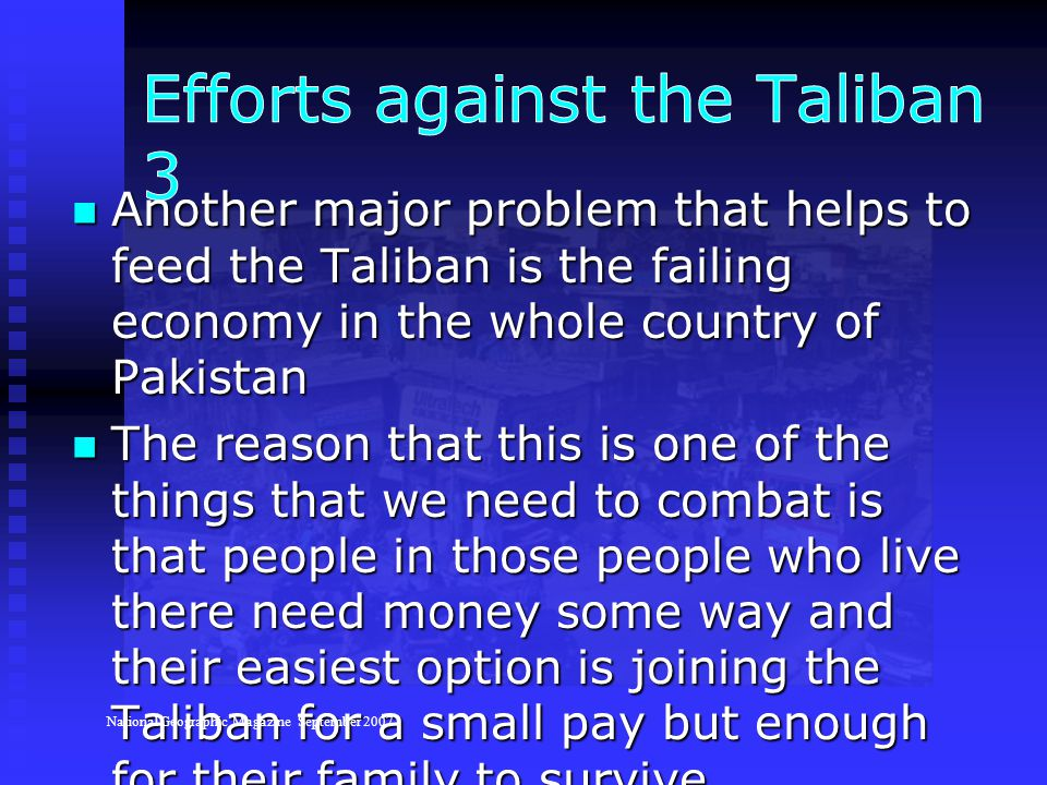 Efforts against the Taliban 3