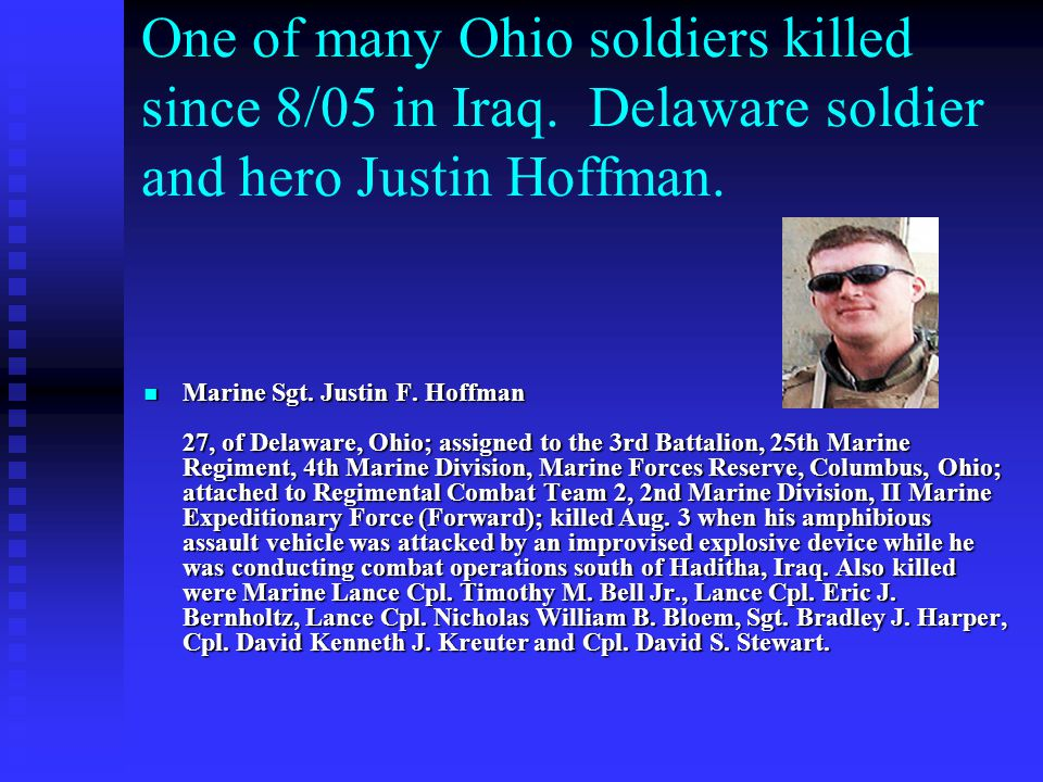 One of many Ohio soldiers killed since 8/05 in Iraq