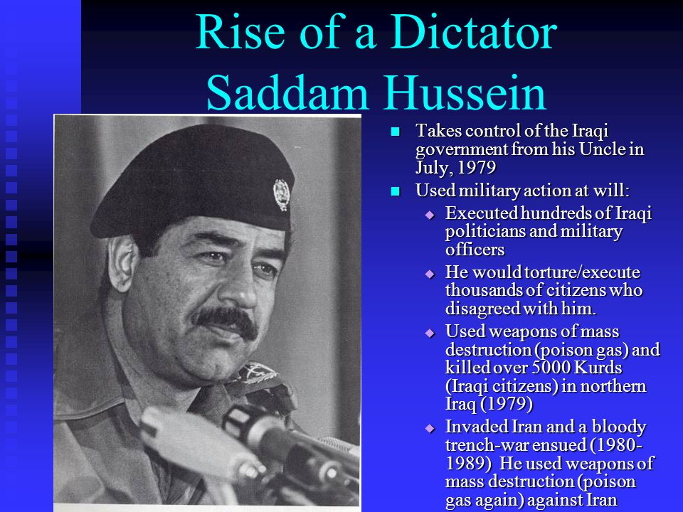 Rise of a Dictator Saddam Hussein