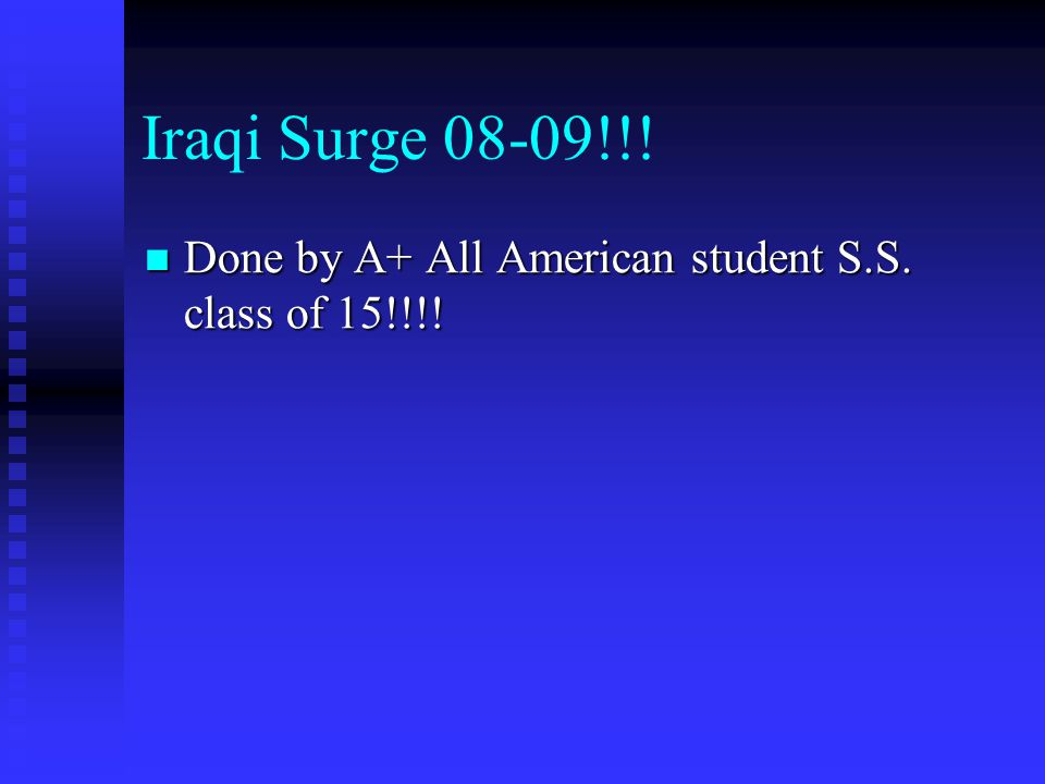 Iraqi Surge 08-09!!! Done by A+ All American student S.S. class of 15!!!!