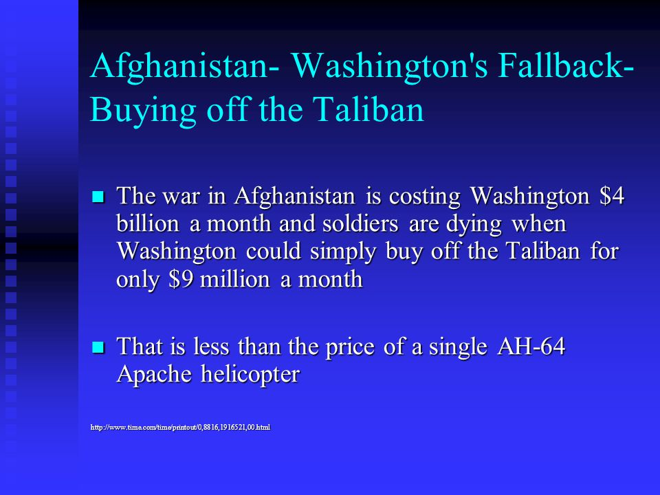 Afghanistan- Washington s Fallback-Buying off the Taliban