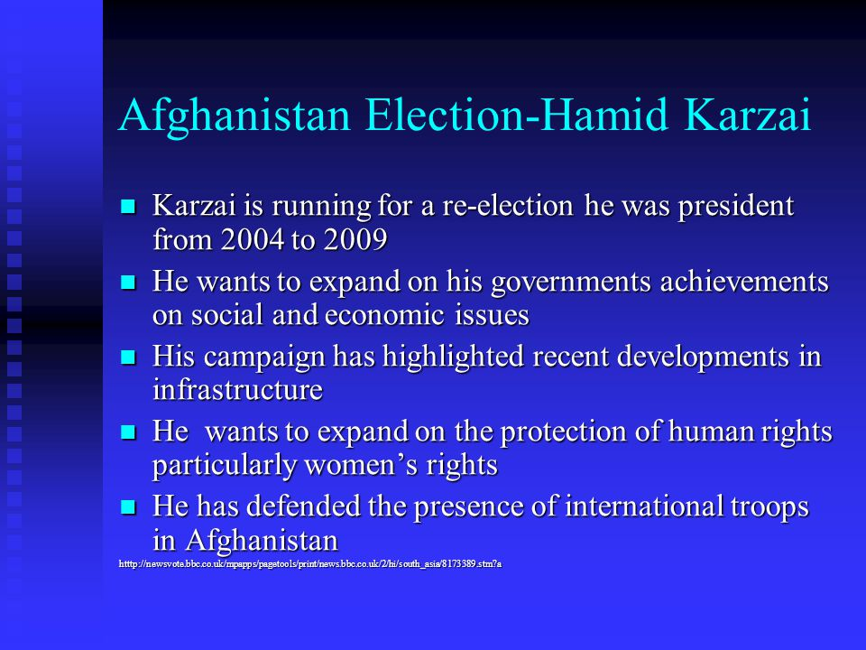 Afghanistan Election-Hamid Karzai
