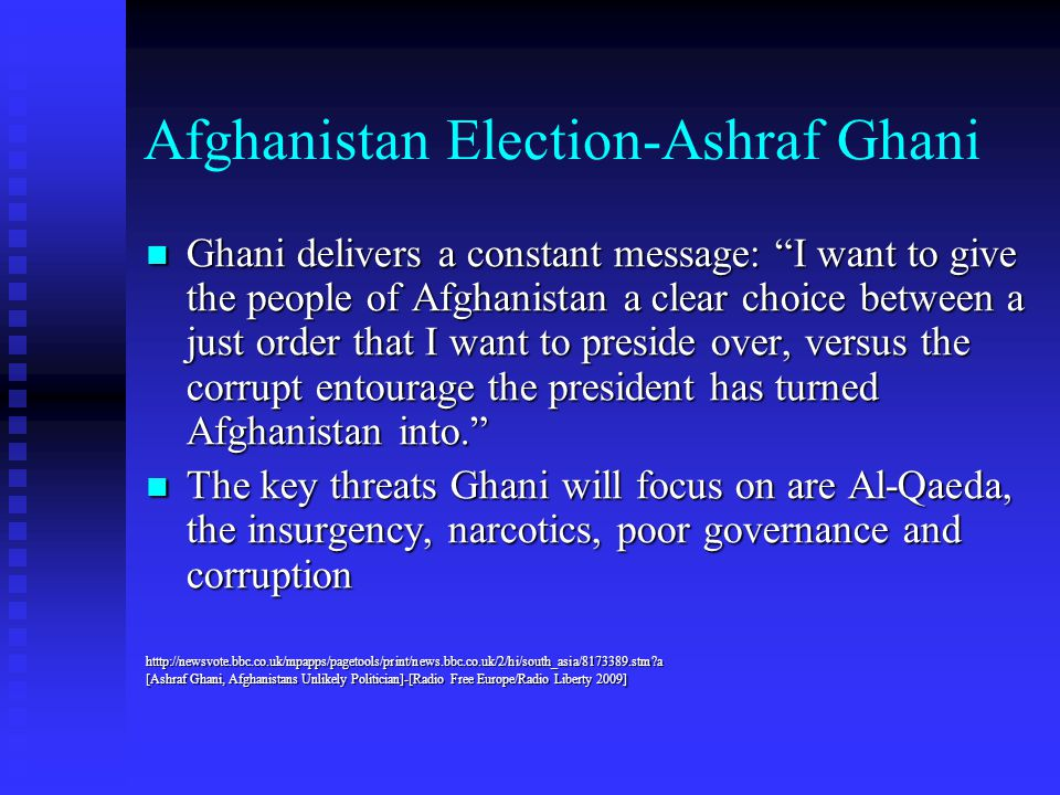Afghanistan Election-Ashraf Ghani