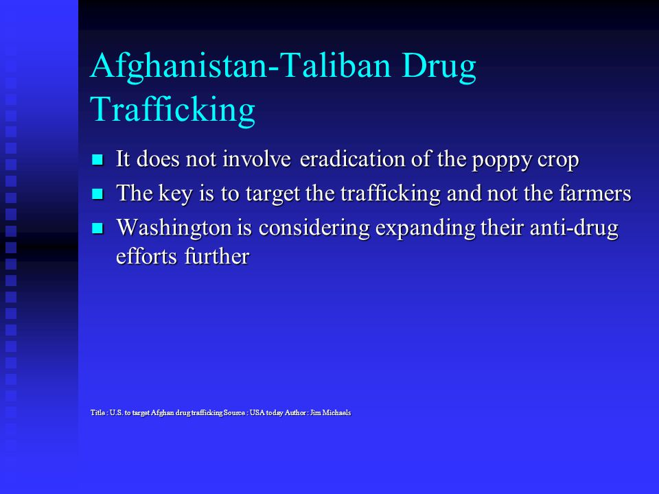 Afghanistan-Taliban Drug Trafficking