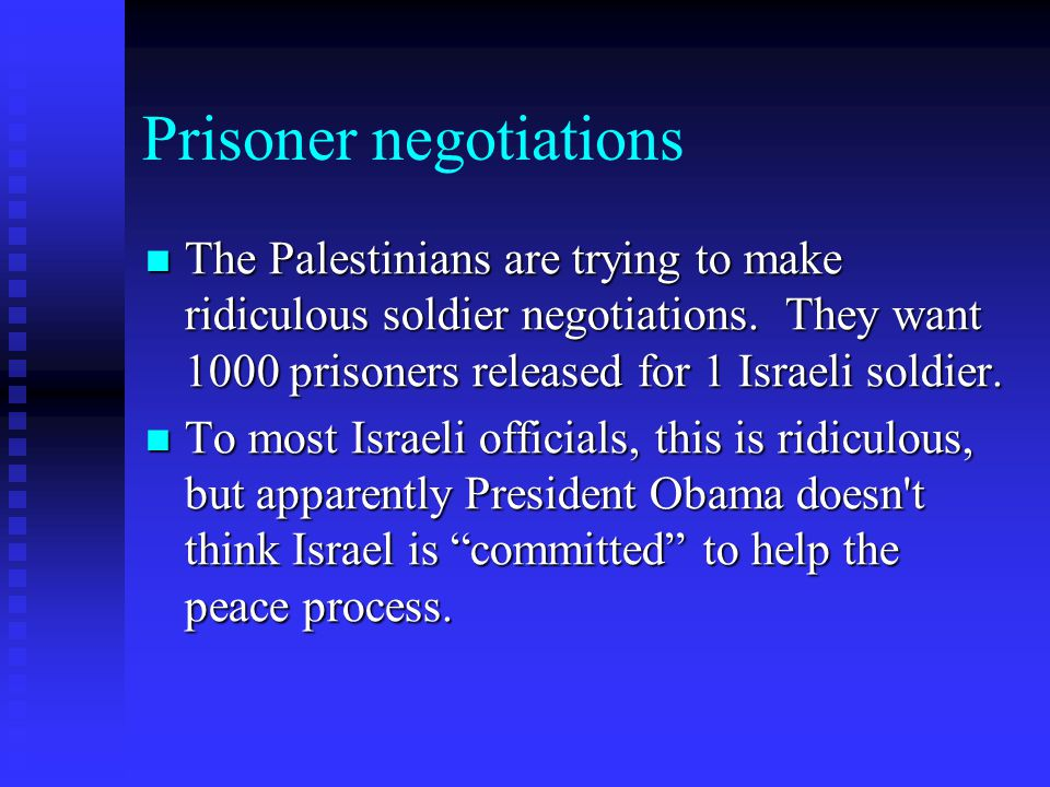 Prisoner negotiations