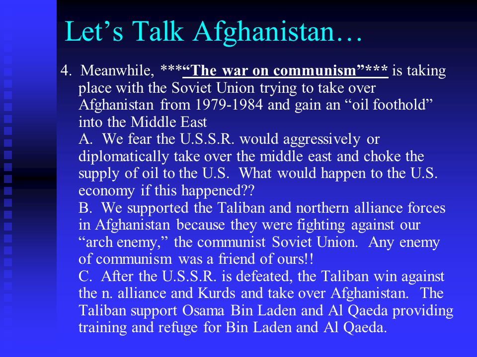 Let's Talk Afghanistan…