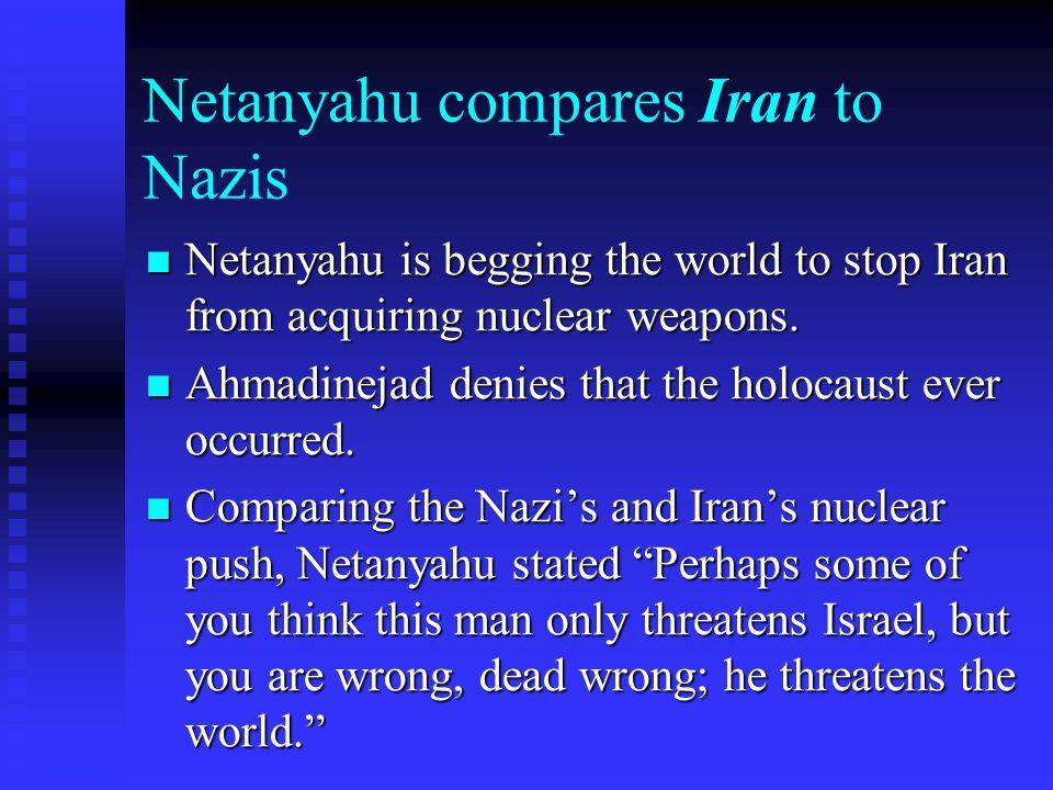 Netanyahu compares Iran to Nazis