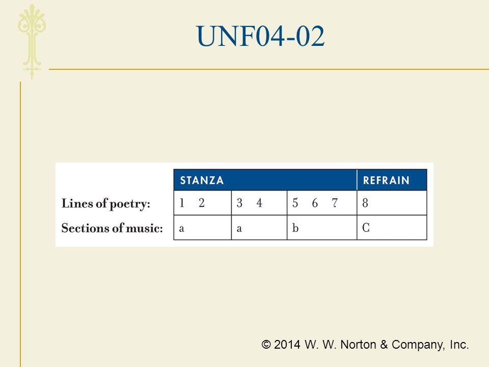 UNF04-02 © 2014 W. W. Norton & Company, Inc.