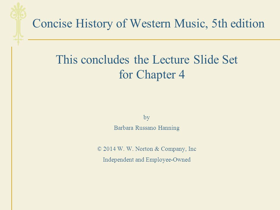 Concise History of Western Music, 5th edition