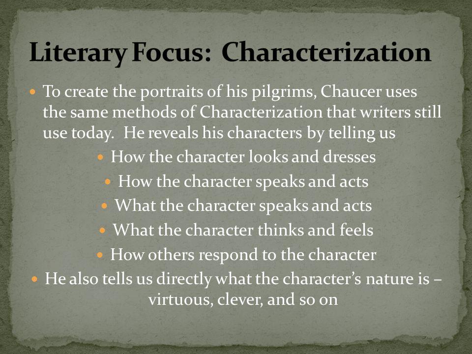 Literary Focus: Characterization