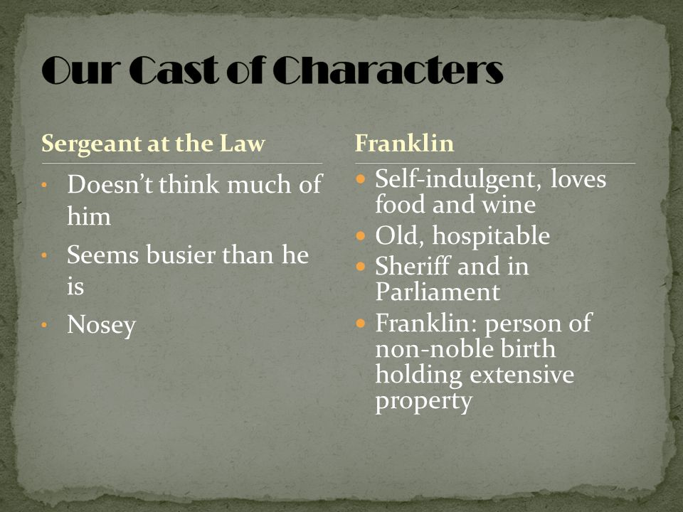 Our Cast of Characters Doesn't think much of him