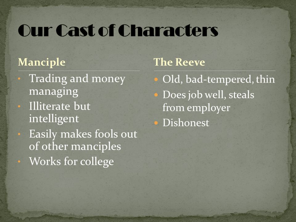 Our Cast of Characters Trading and money managing