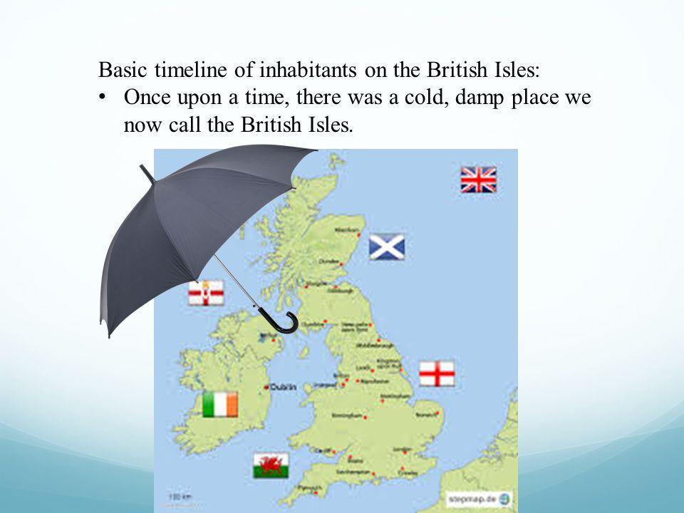 Basic timeline of inhabitants on the British Isles: